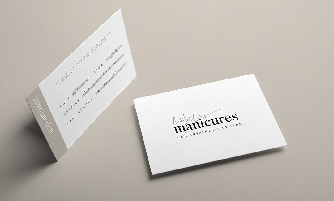 Modern Salon Appointment Card Design for mojacar manicures