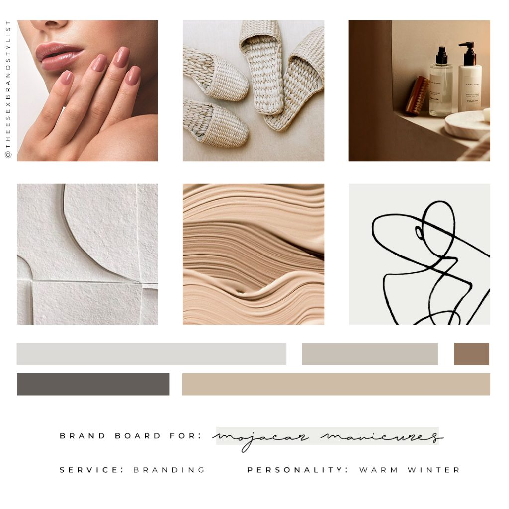 Feminine Brand Mood Board for Beauty Salon