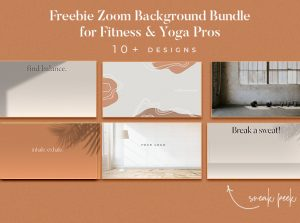 Zoom Backgrounds for fitness and yoga classes